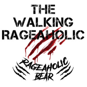 THE WALKING RAGEAHOLIC - PREMIUM MEN'S/UNISEX T-SHIRT - WHITE Design