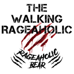 THE WALKING RAGEAHOLIC - PREMIUM WOMEN'S T-SHIRT - WHITE Design
