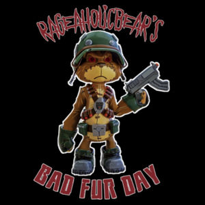BAD FUR DAY - PREMIUM WOMEN'S FITTED T-SHIRT - BLACK Design