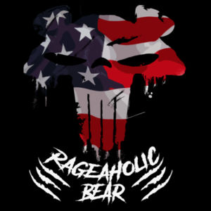 USA PUNISHBEAR - PREMIUM UNISEX PULLOVER HOODIE - BLACK Design