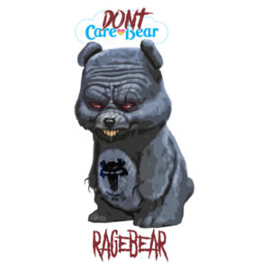 DON'T CARE BEAR - PREMIUM UNISEX S/S T-SHIRT - WHITE Design