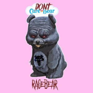 DON'T CARE BEAR - PREMIUM WOMEN'S FITTED T-SHIRT - LIGHT PINK Design