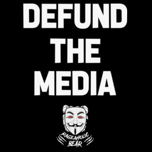 DEFUND THE MEDIA - PREMIUM UNISEX S/S T-SHIRT - BLACK Design