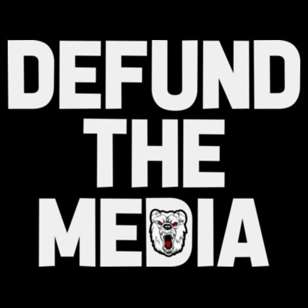 DEFUND THE MEDIA - PREMIUM UNISEX FACE MASK - BLACK Design