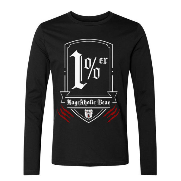 1% er - PREMIUM UNISEX LONG SLEEVE T-SHIRT - BLACK Thumbnail