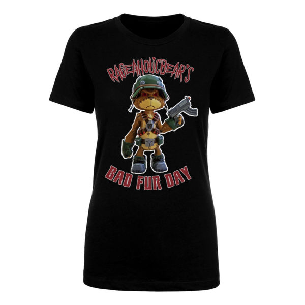 BAD FUR DAY - PREMIUM WOMEN'S FITTED T-SHIRT - BLACK Thumbnail