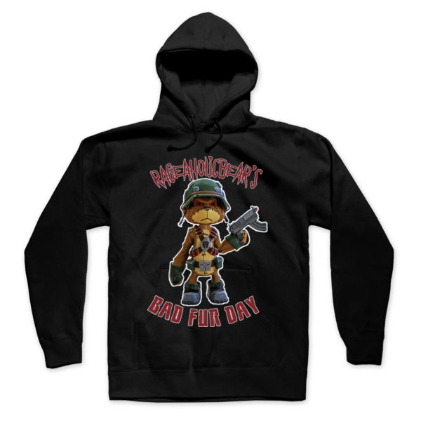 BAD FUR DAY - PREMIUM UNISEX PULLOVER HOODIE - BLACK Thumbnail